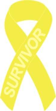 bladder kidney cancer awareness ribbon pin yellow