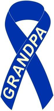 Colon Cancer Awareness Ribbon Pins - Dark Blue